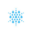 falling drops icon clean water logo template vector image