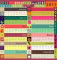 Funny calendar vector image vector image