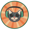 funny cat in a retro style vector image vector image