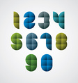 Geometric modern style numbers made with squares vector image vector image