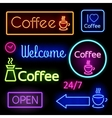 glowing neon signs vector image vector image