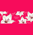 happy womens day horizontal banner with lily vector image
