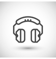 Headphones line icon vector image vector image