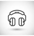 Headphones line icon vector image vector image