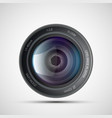 icon of lens from the photo camera vector image
