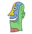 imaginative color mask vector image vector image
