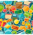 Internet shopping seamless pattern vector image
