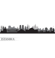 Istanbul City skyline detailed silhouette vector image vector image