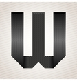 Letter metal ribbon - W vector image vector image