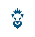 lion head with beard and crown icon vector image