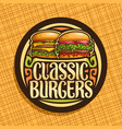 logo for classic burgers vector image