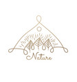 logo nature trees vector image vector image