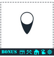marker icon flat vector image vector image