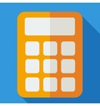 Modern flat design concept icon calculator vector image vector image