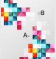 modern geometrical abstract background squares vector image vector image