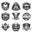 monochrome tattoo salon labels set vector image vector image
