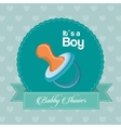 Pacifier of baby shower card design vector image vector image