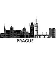 prague architecture city skyline travel vector image vector image