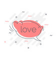 quick tips badge with speech bubble love word vector image