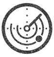 Radar Grainy Texture Icon vector image vector image