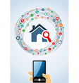 Real estate icons generic smart phone vector image