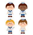 sailor boys vector image vector image