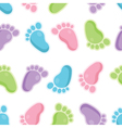 seamless pattern of baby feet icons