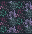 Seamless pattern with hand drawn fireworks