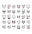 set funny cartoon faces vector image