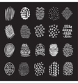 Set of 20 hand drawn textures vector image vector image