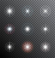 Shining stars or other bright light sources with a vector image vector image