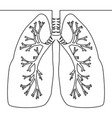 single continuous line art anatomical human lungs vector image vector image
