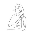 single continuous line drawing minimalistic vector image