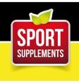 Sport Supplements sign vector image