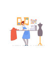 tailor shop business owner isolated dressmaker vector image