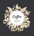 template coffee circle branch vector image vector image