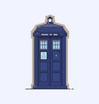 traditional british police box a blue police vector image vector image