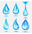 translucent blue drops vector image vector image