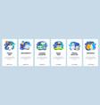 trip planning travel mobile app onboarding vector image