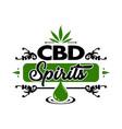 vintage cannabis leaf logo vector image vector image