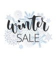 Winter sale hand written inscription vector image vector image
