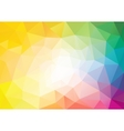 Spectrum polygon background or frame vector image