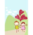 cute couple card vector image