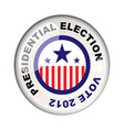 presidential 2012 election vector image