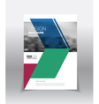 Abstract business Flyer design template in A4 size vector image