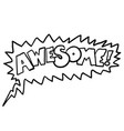awesome1 black vector image vector image