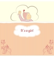 Baby shower card with little girl sleep vector image vector image