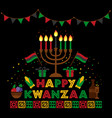 banner for kwanzaa with traditional colored and vector image vector image