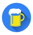 beer in mug icon Flat vector image
