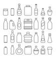 beverage packaging icons vector image vector image